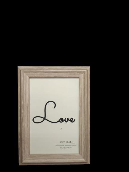 Porta Retrato 10x15cm Love Bege
