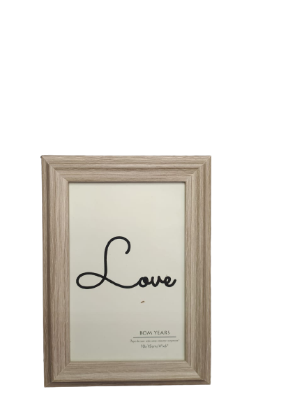 Porta Retrato 10x15cm Love Too Bege