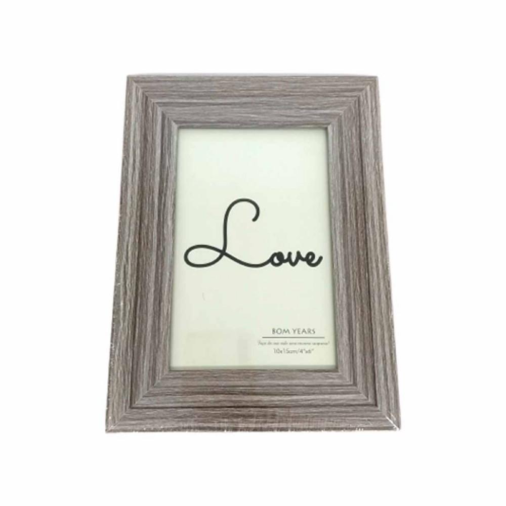 Porta Retrato 10x15cm Love Too Cinza