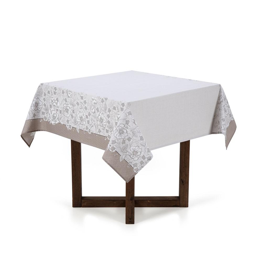 Toalha de Mesa 4 lugares Limpa Fácil Marguerite Karsten Quadrada
