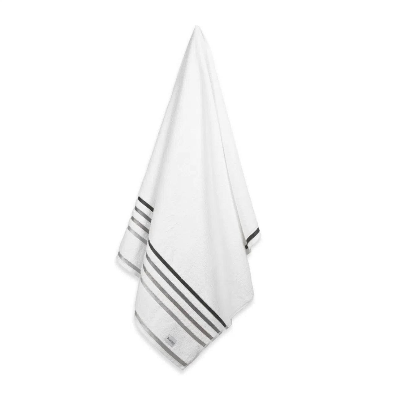 Toalha de Rosto Fio Penteado Lumina Karsten - Branca
