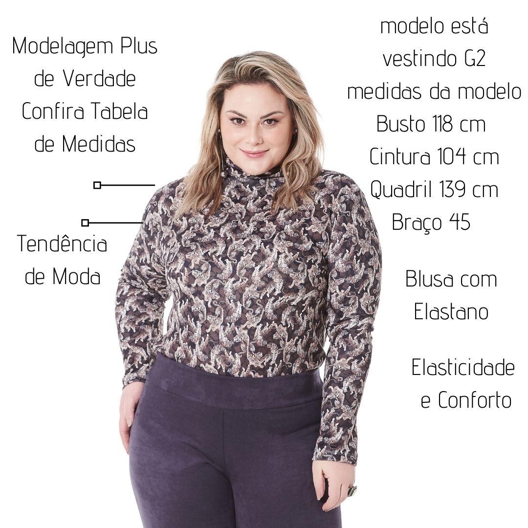 Blusa Cacharrel  PLus Size Animal Print 101543