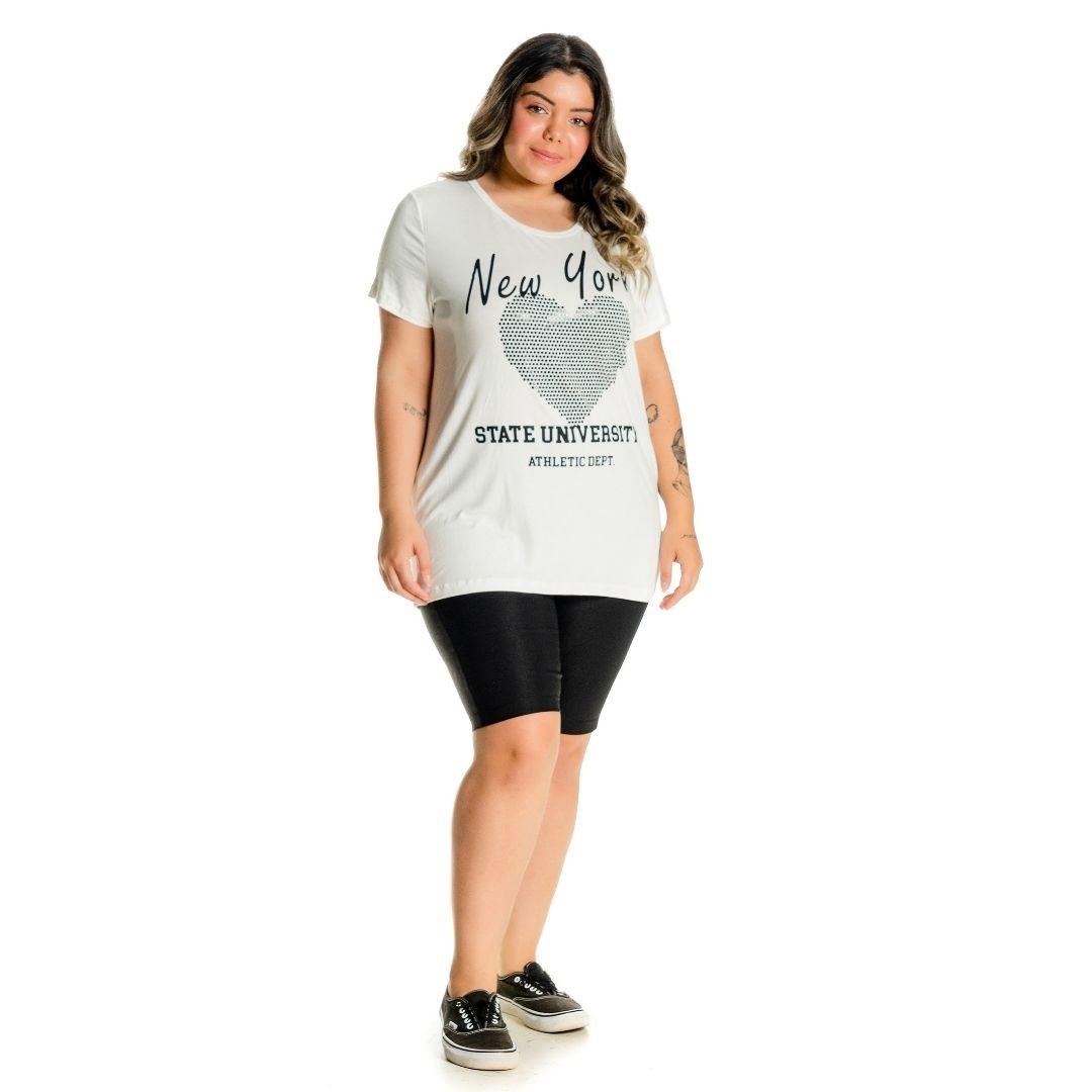Blusa plus Size Coração de aplique 102539
