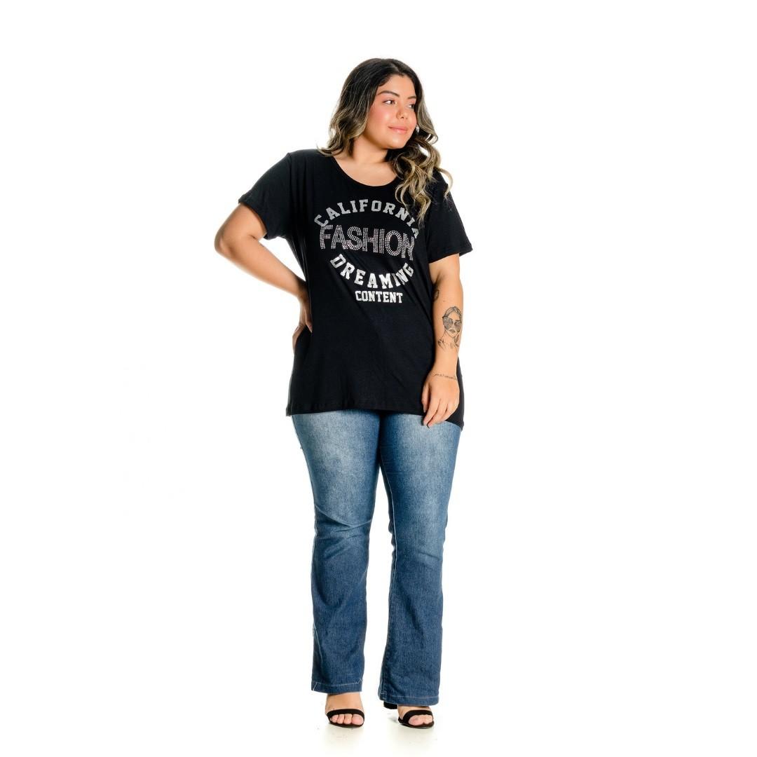 Blusa com Estampa e Aplique 102541