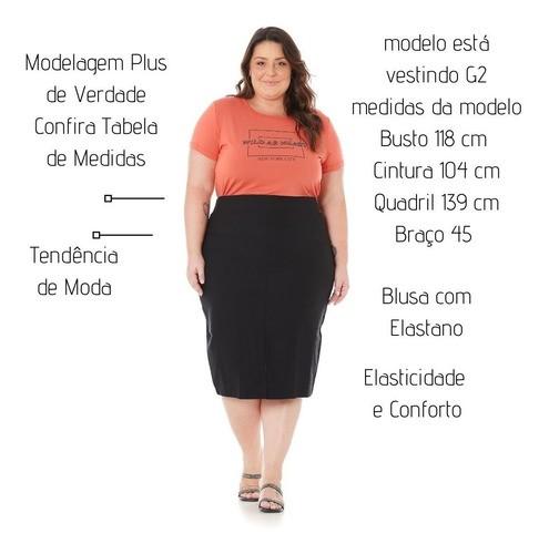 Blusa plus Size Feminina Bordada 102578