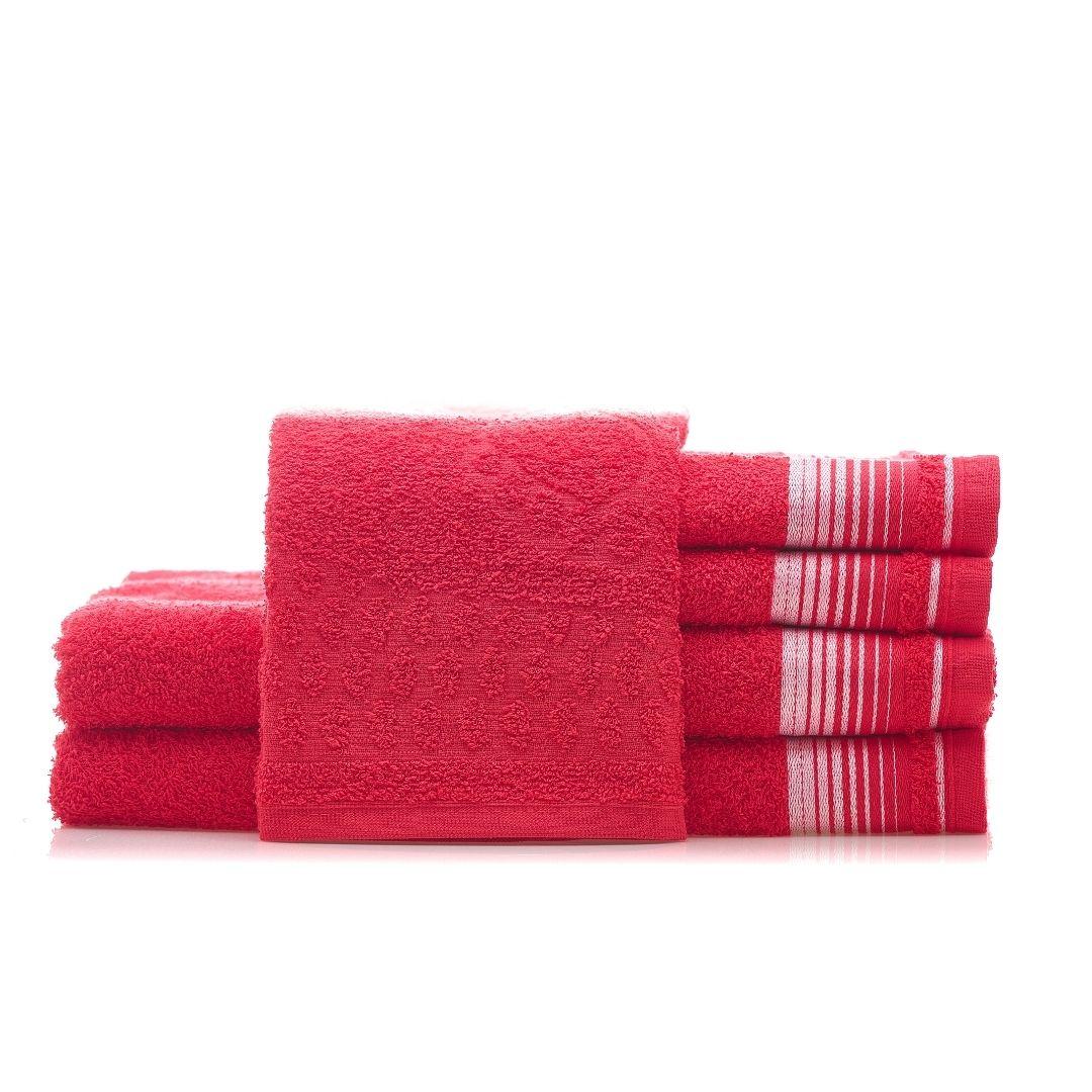 1 Jogo de Toalha  2 Banho + 2 Rosto + 1 Piso Vermelho