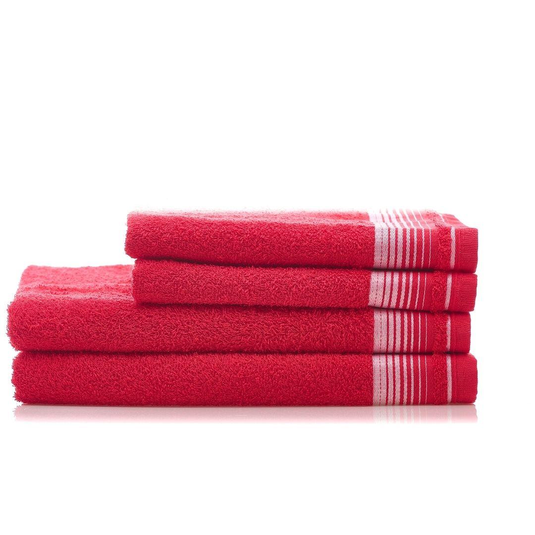 1 Jogo de Toalha  2 Banho 2 Rosto Vermelho