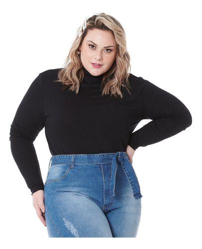 Blusa Cacharrel Gola Alta Feminina Plus Size 101519