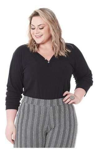 Blusa Canelada Feminina Plus Size 101558