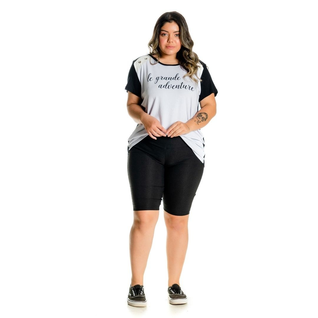 Bermuda Bengaline Ciclista Plus Size 102529