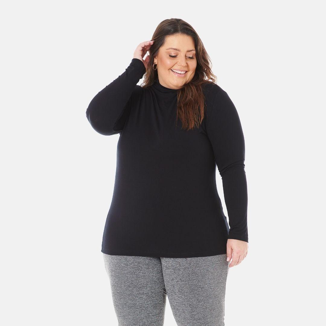 Blusa Cacharrel Gola Alta Feminina Plus Size 1130