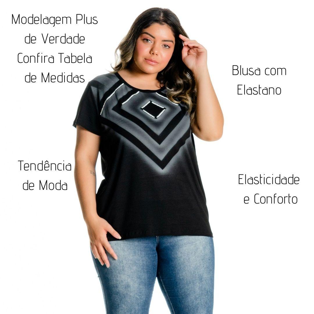 Blusa com Estampa e Strass G5-G6-G7 102519