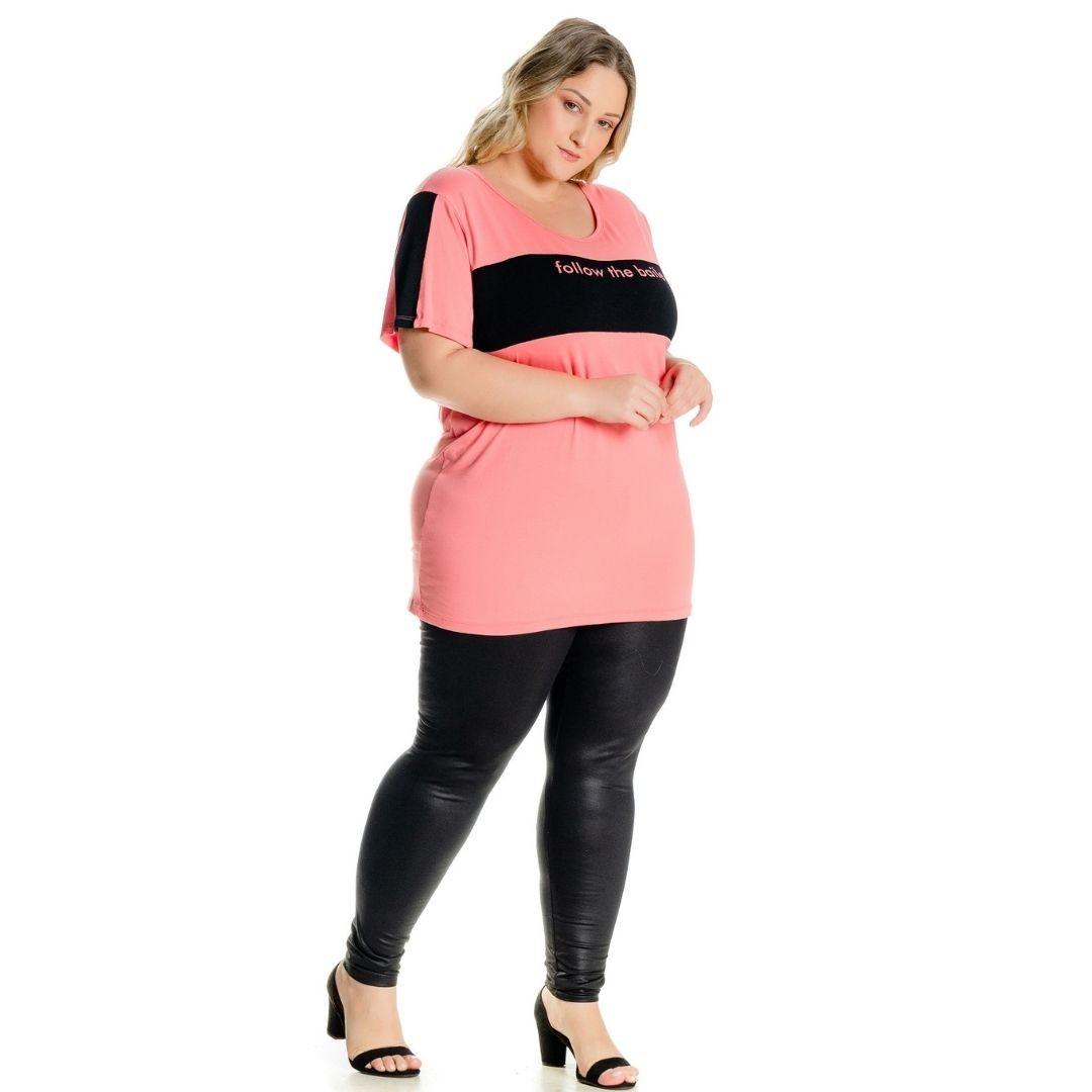 Blusa com estampa Letreiro Plus Size 102500
