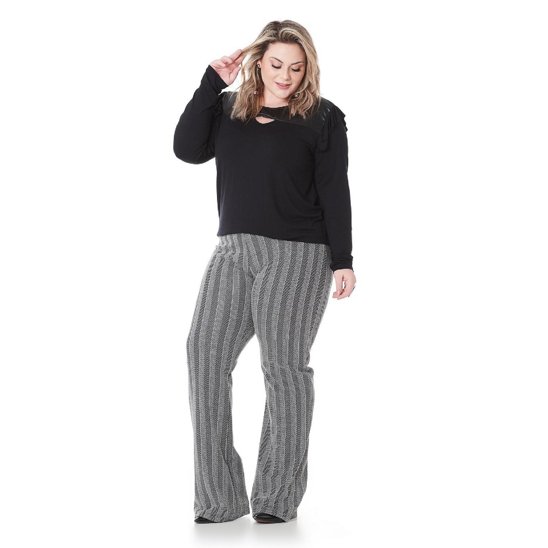 Blusa com sirre Feminina Plus Size 101524