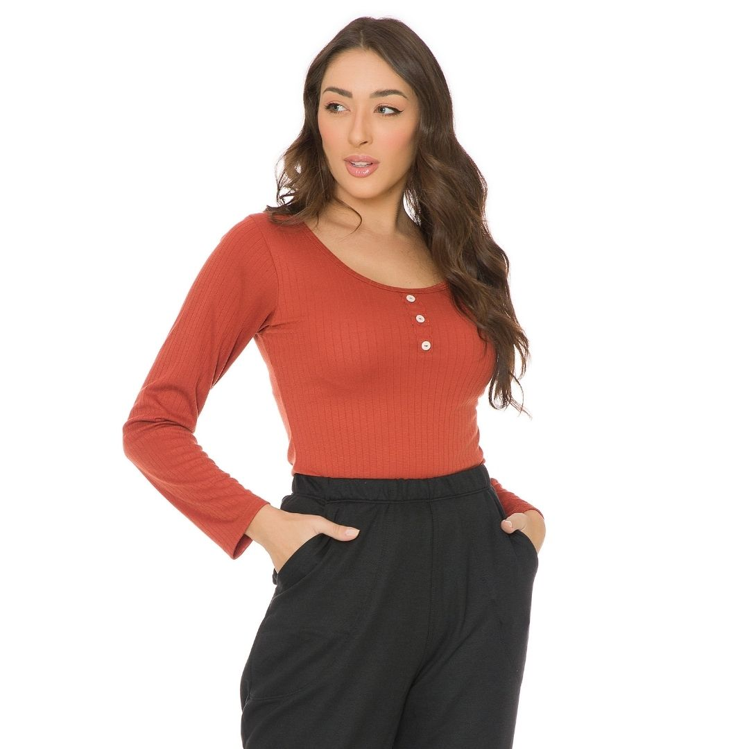Blusa de ribana feminina 3412