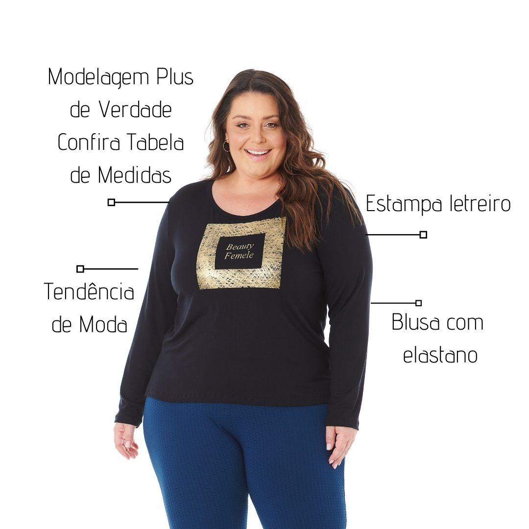 Blusa Feminina com Estampa P ao G2 - 1128-4