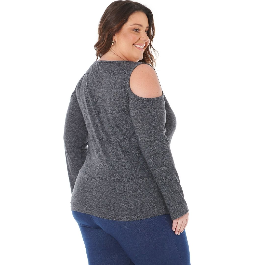 Blusa feminina de malha Plus Size 103619