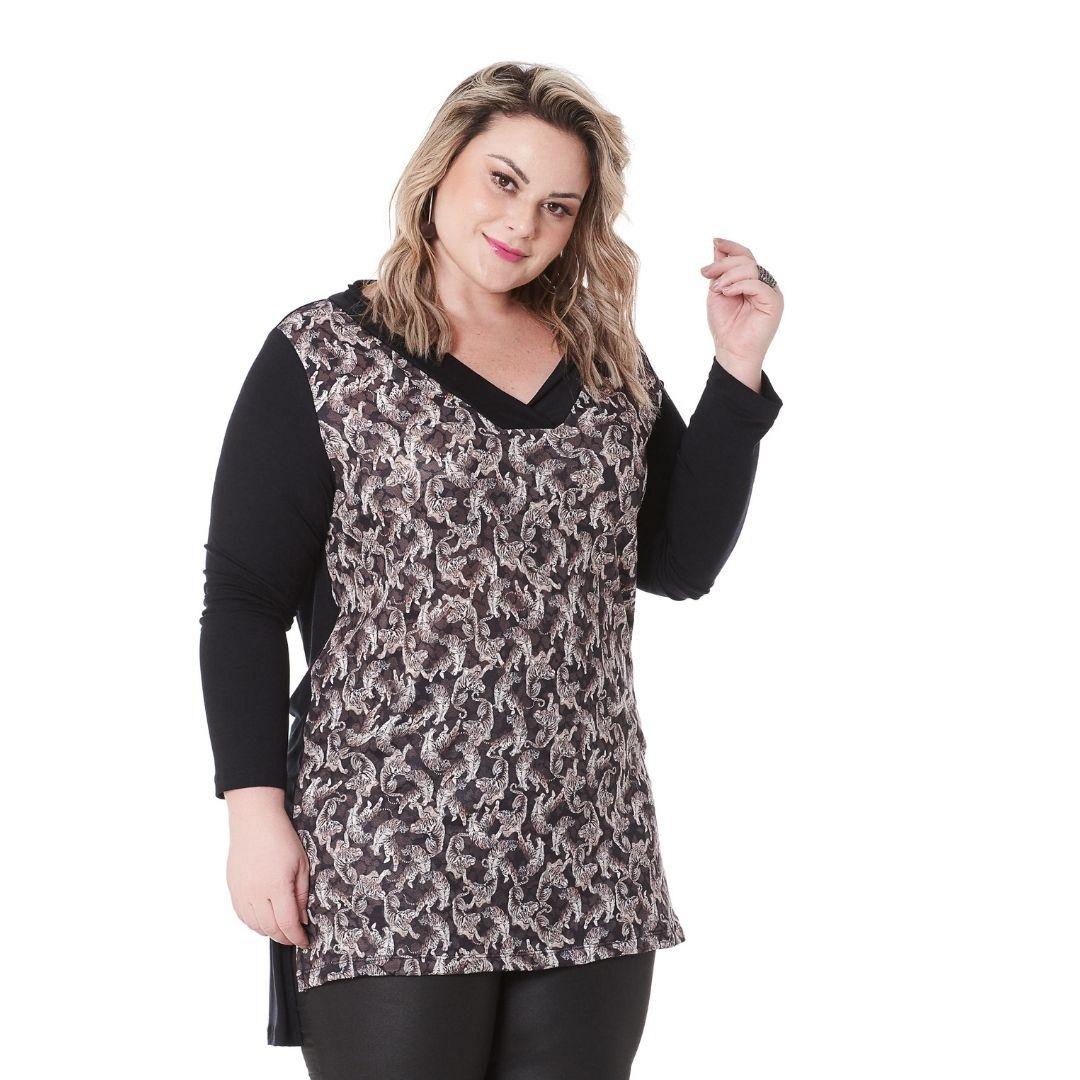 Blusa Feminina Estampada Plus Size 101548