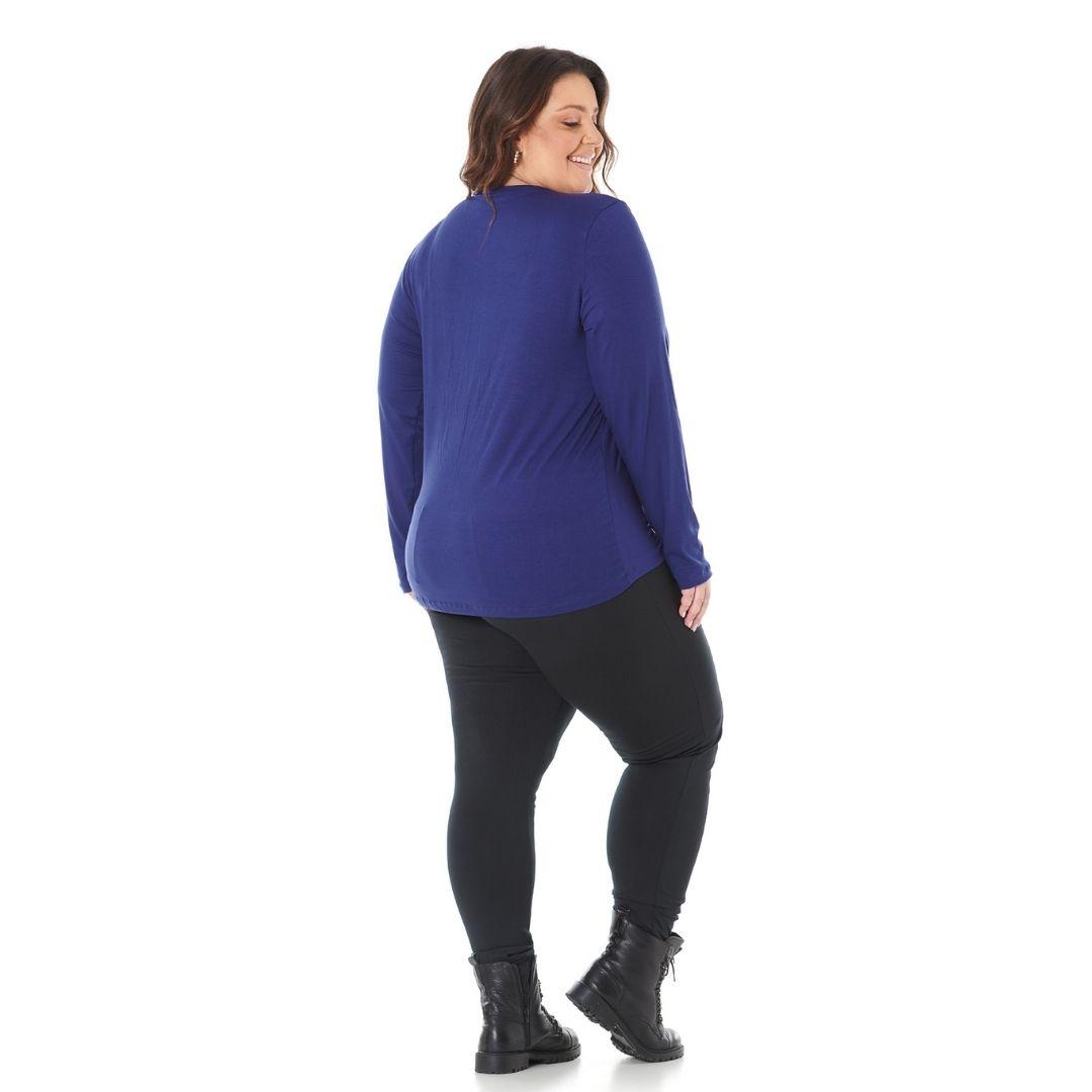 Blusa Feminina Plus Size Bordada em Chatton 103607