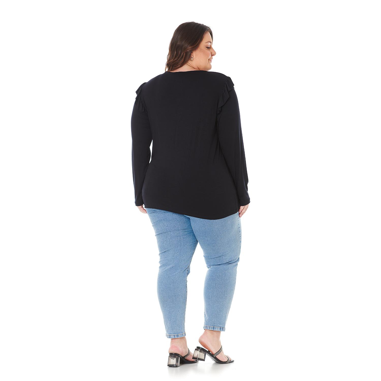 Blusa Feminina Plus Size com Babado 103604