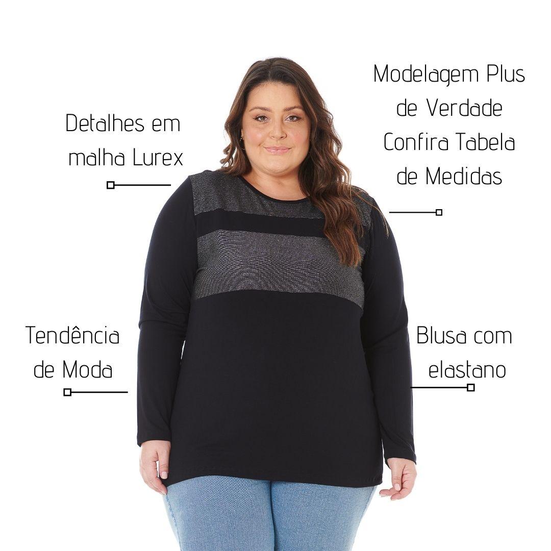Blusa Feminina Plus Size com brilho 103610