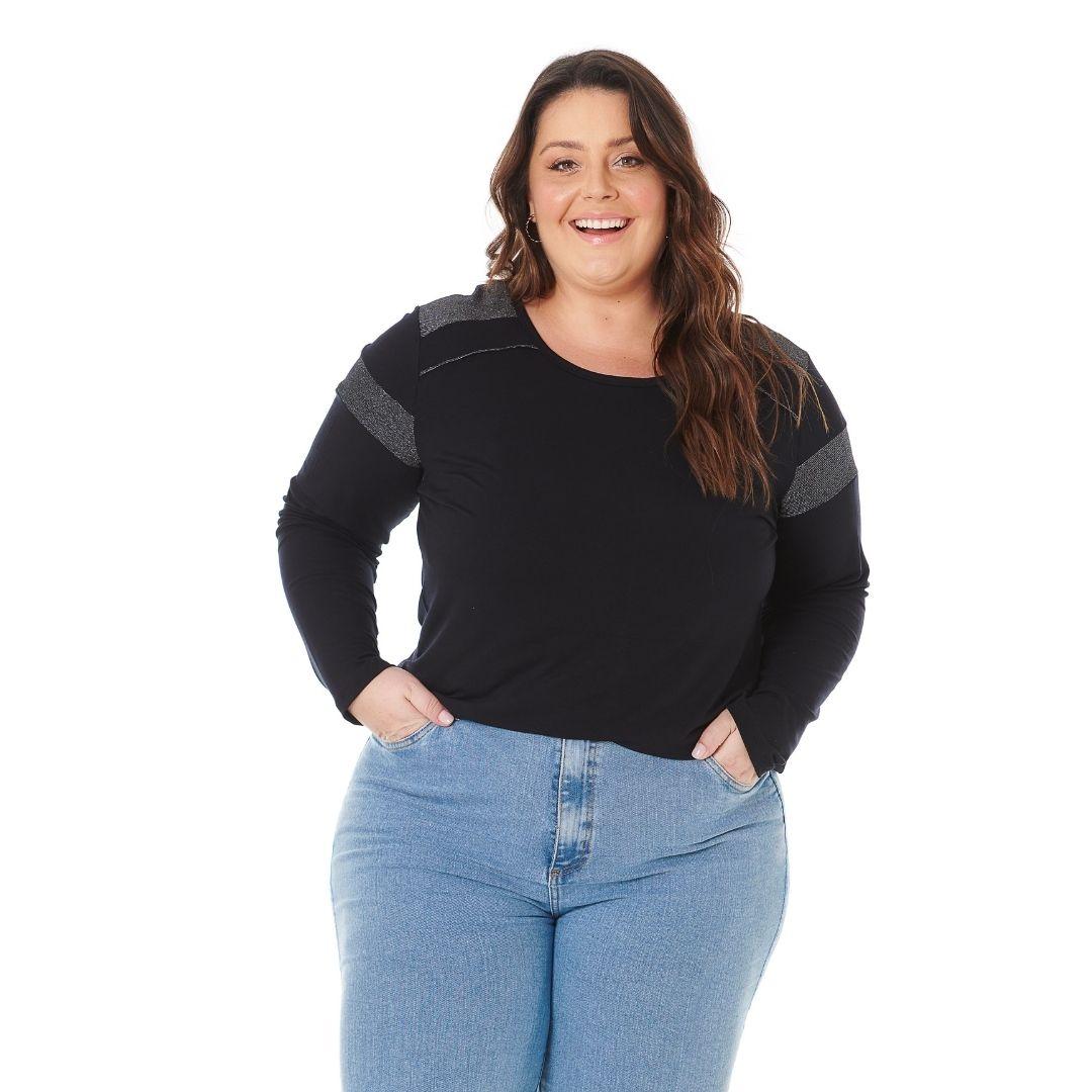 Blusa Feminina Plus Size com detalhes em Brilho 103609