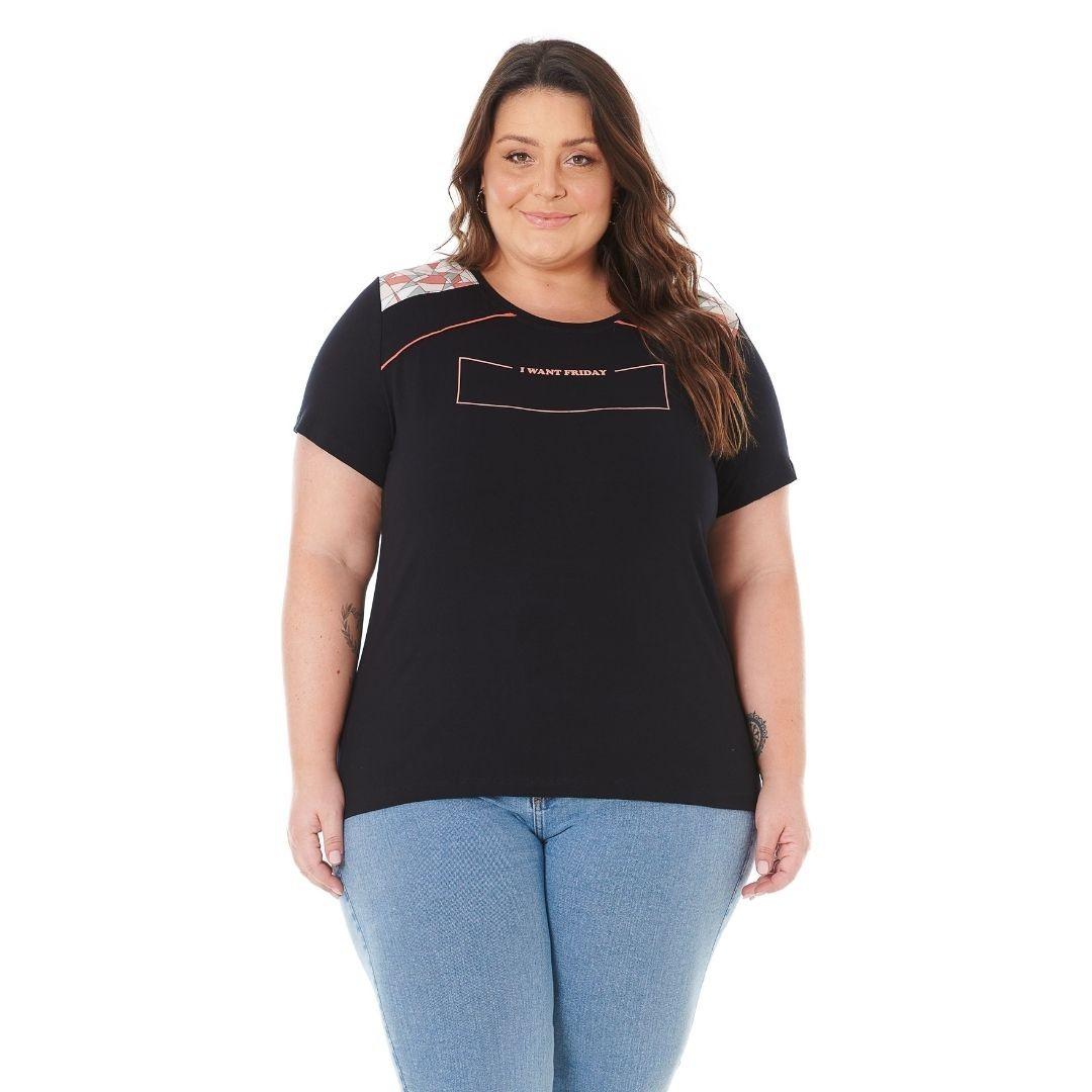 Blusa Feminina Plus Size com Estampa 102584