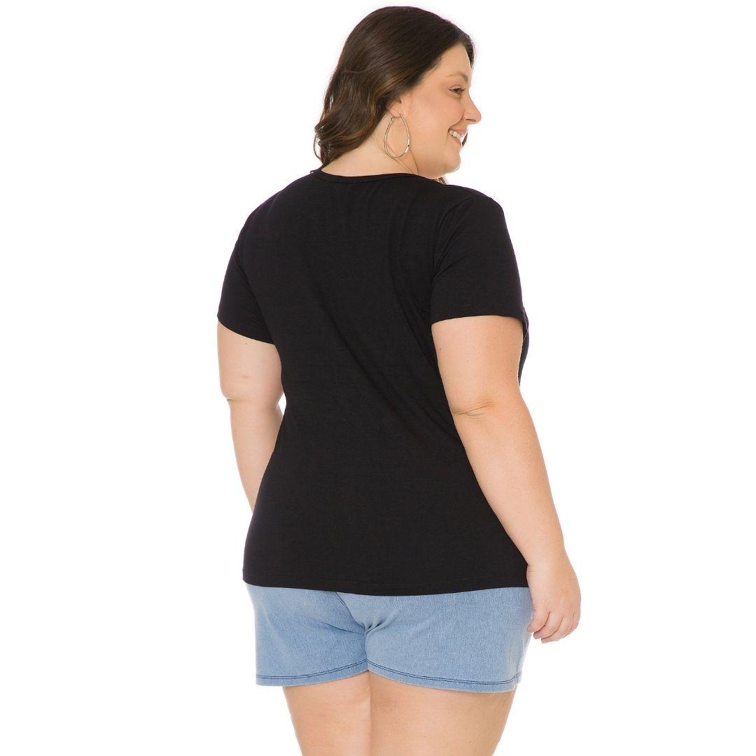 Blusa Feminina Plus Size com estampa 103707