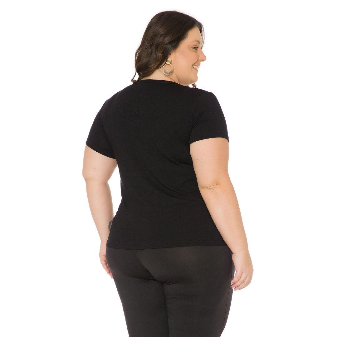 Blusa Feminina Plus Size com estampa 103710