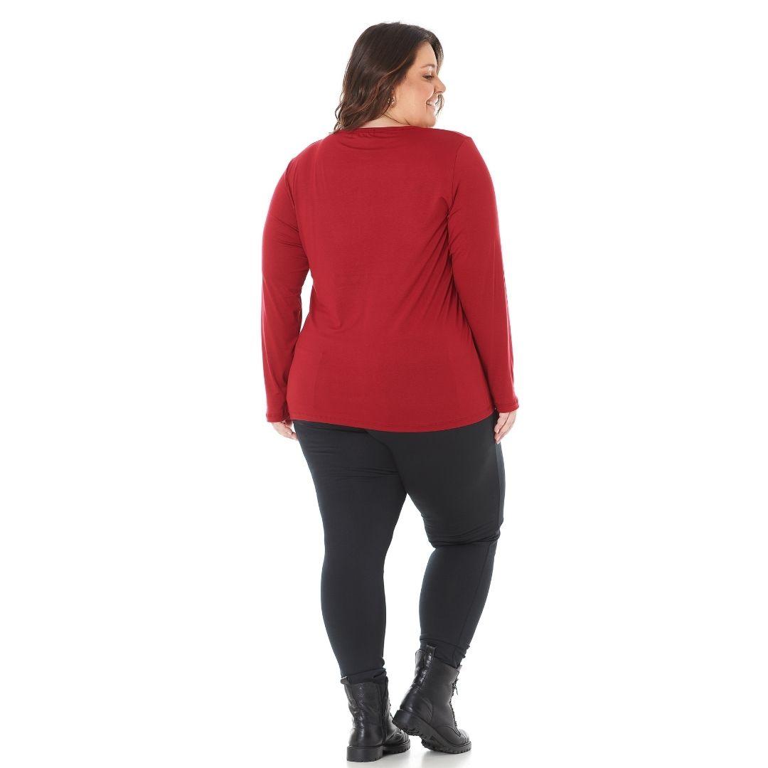 Blusa Feminina Plus Size com estampa Believe 1128-1