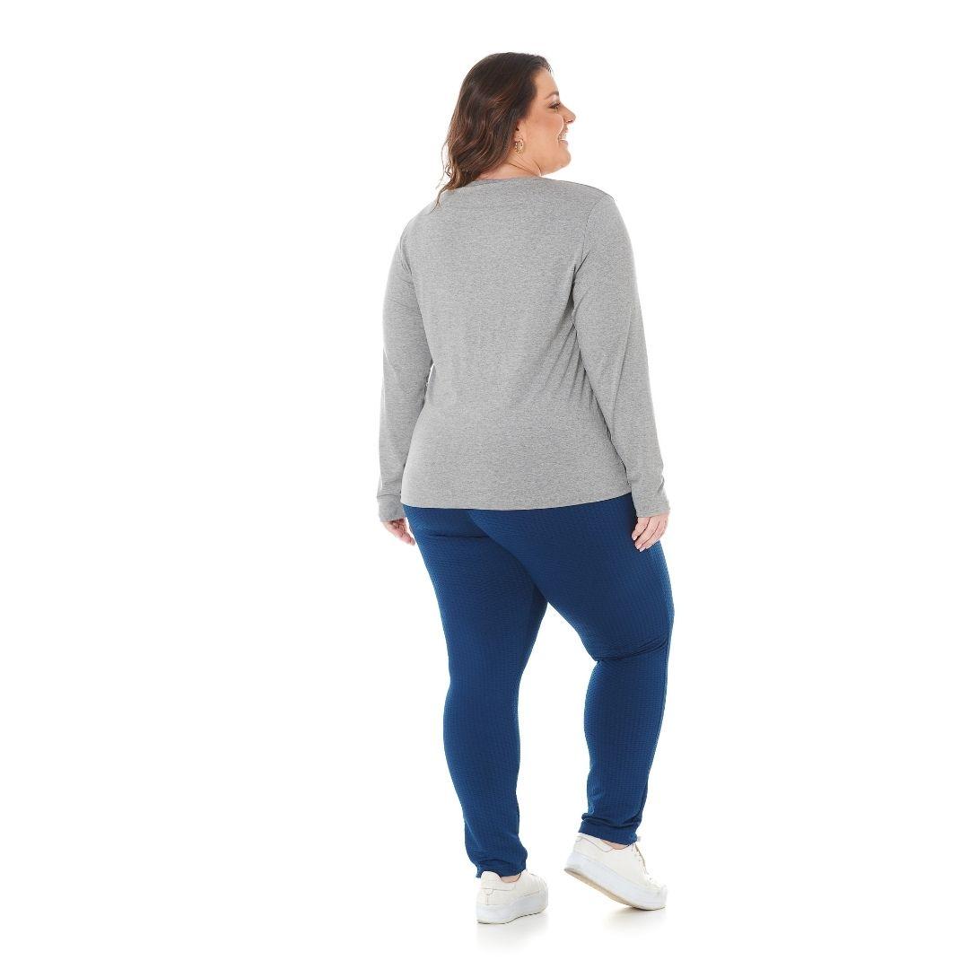 Blusa feminina Plus Size com estampa Love First 1128-3