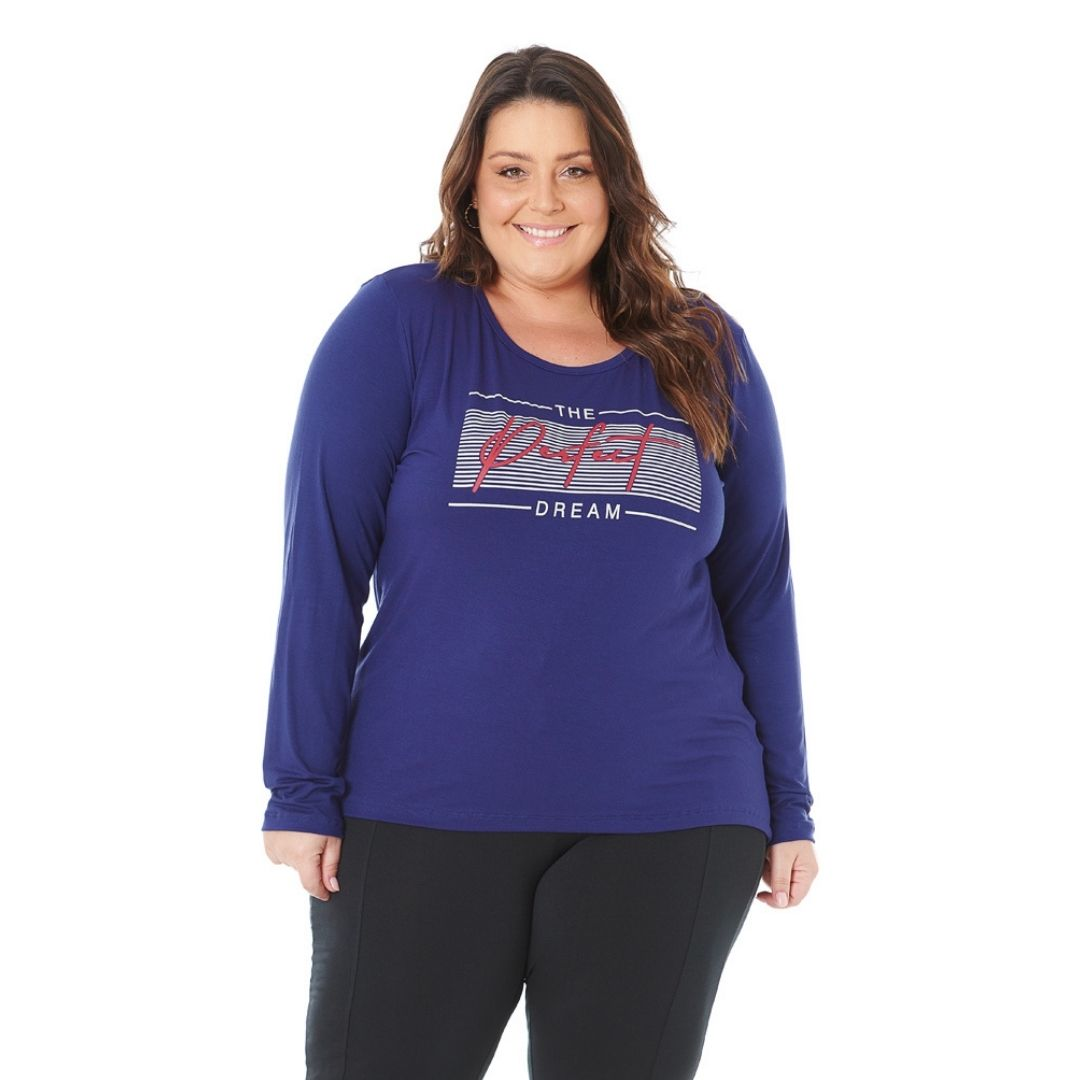 Blusa Feminina Plus Size com Estampa Perfect 103618