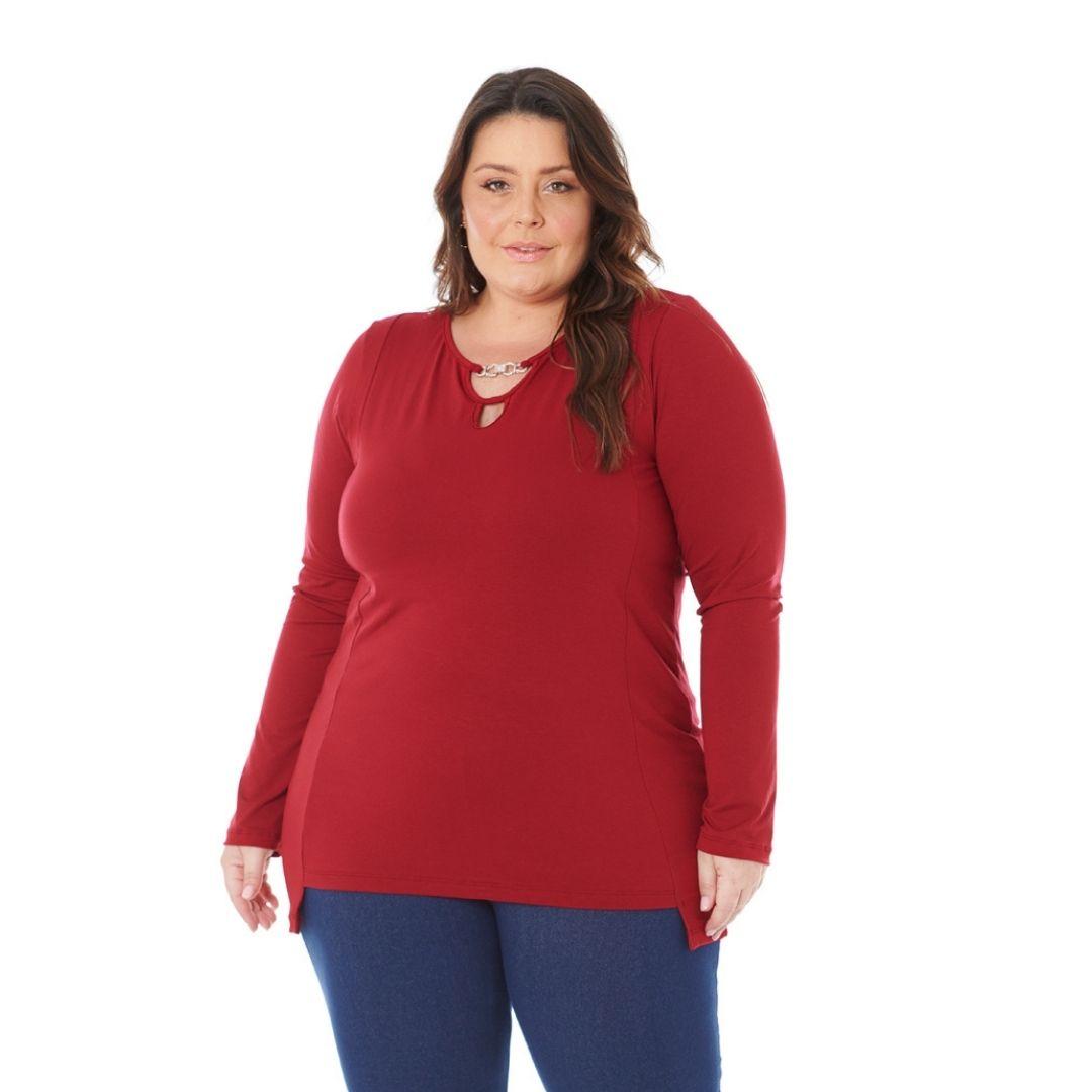 Blusa Feminina Plus Size com Pingente 103616