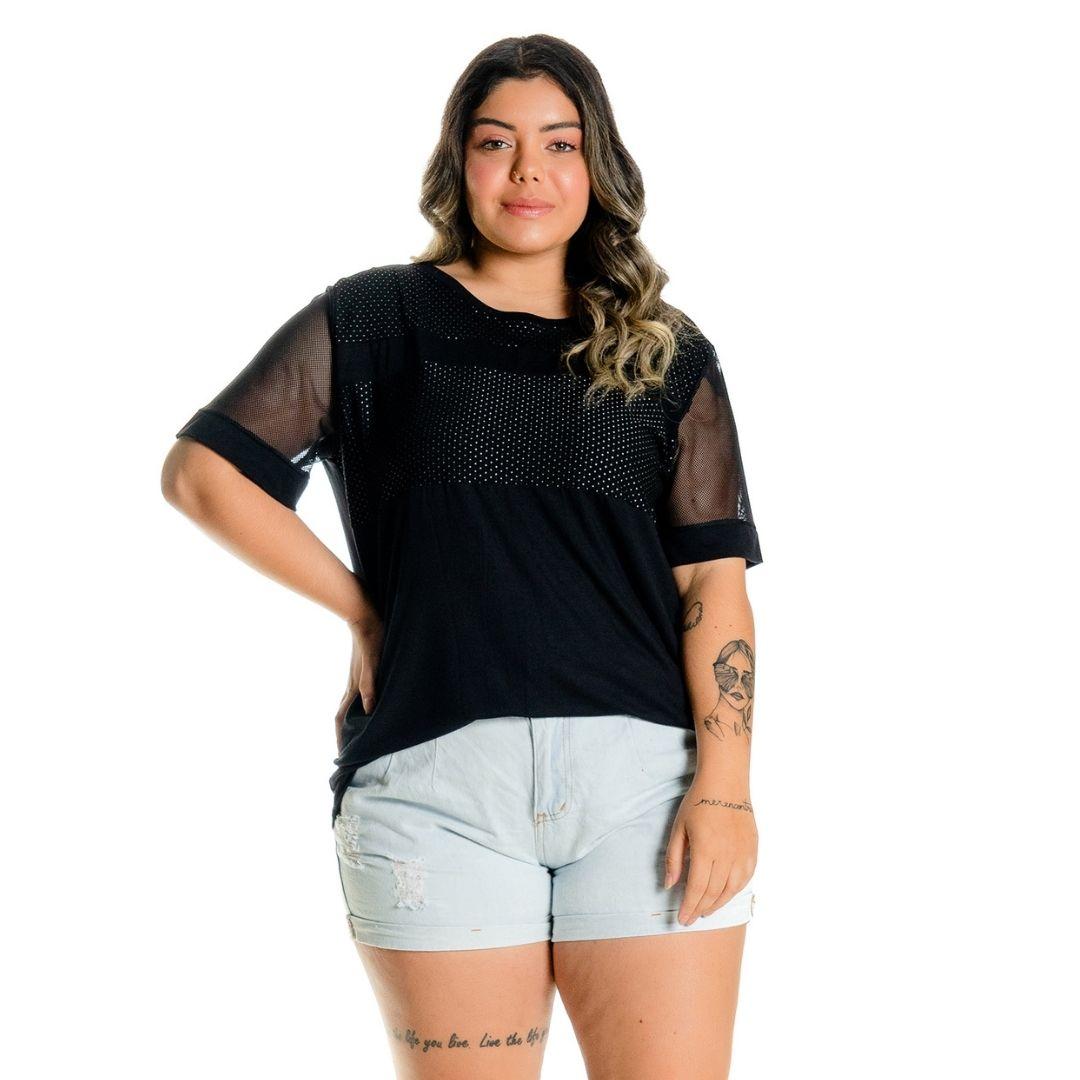 Blusa Feminina Plus Size com Poa 102505