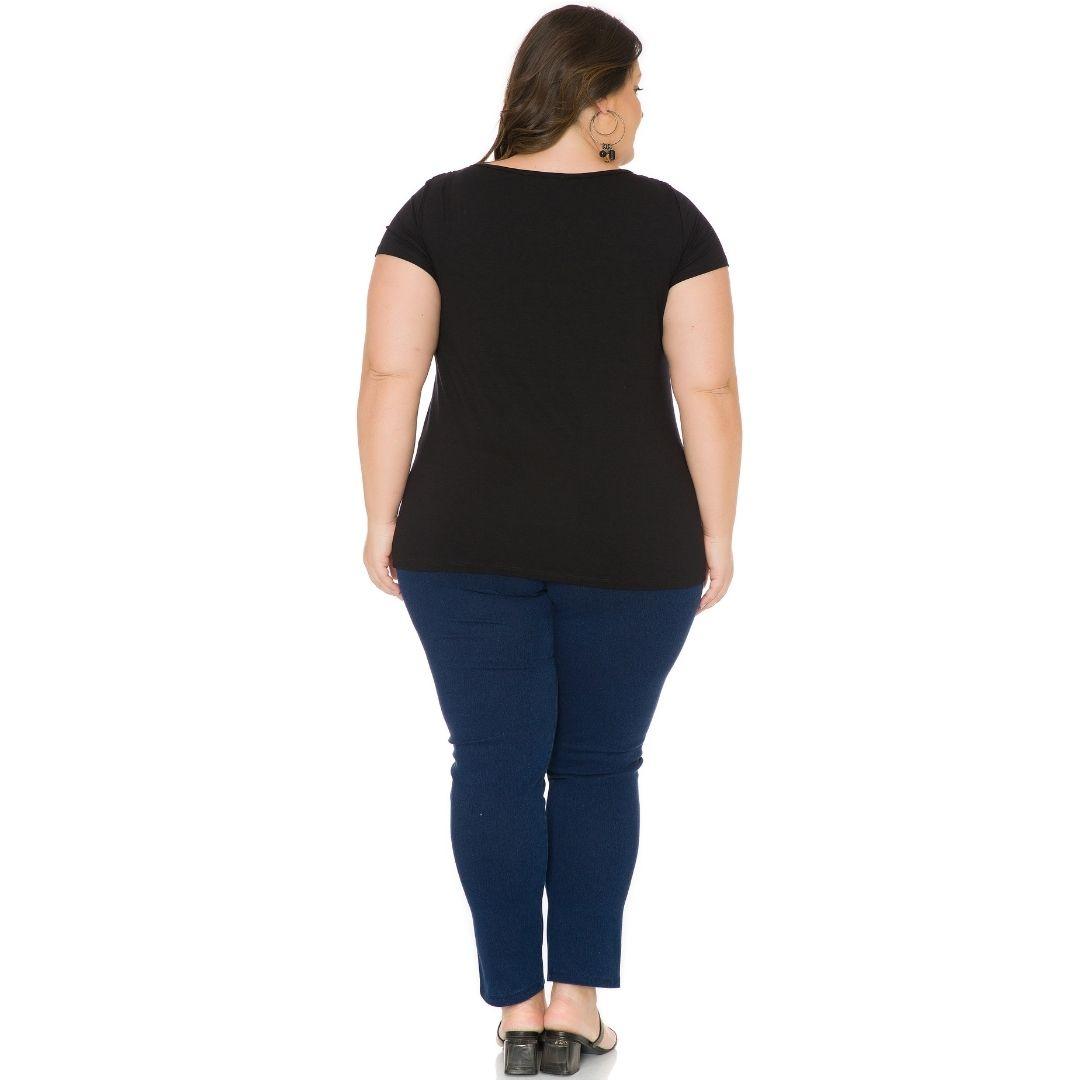 Blusa Feminina Plus Size com Renda 103718