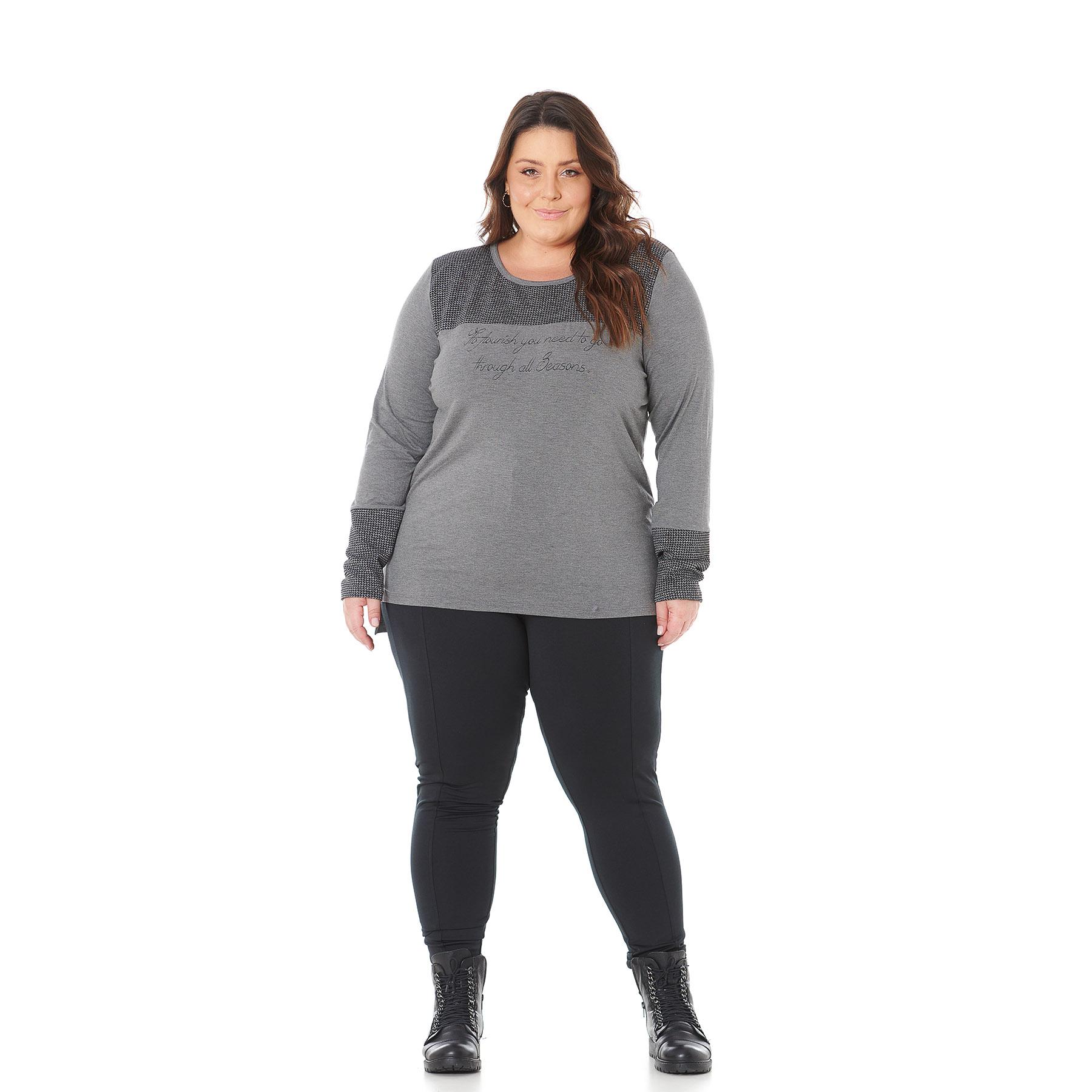 Blusa Feminina Plus Size detalhe Pe de Pule 103602