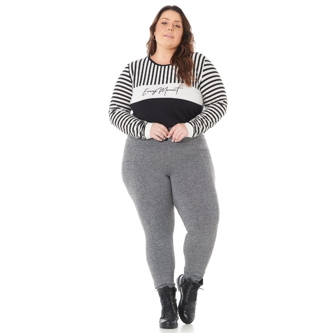 Blusa Feminina Plus Size Listrada 103613