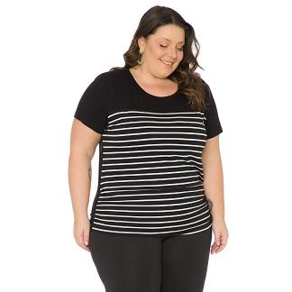 Blusa feminina Plus Size Listrada 103720