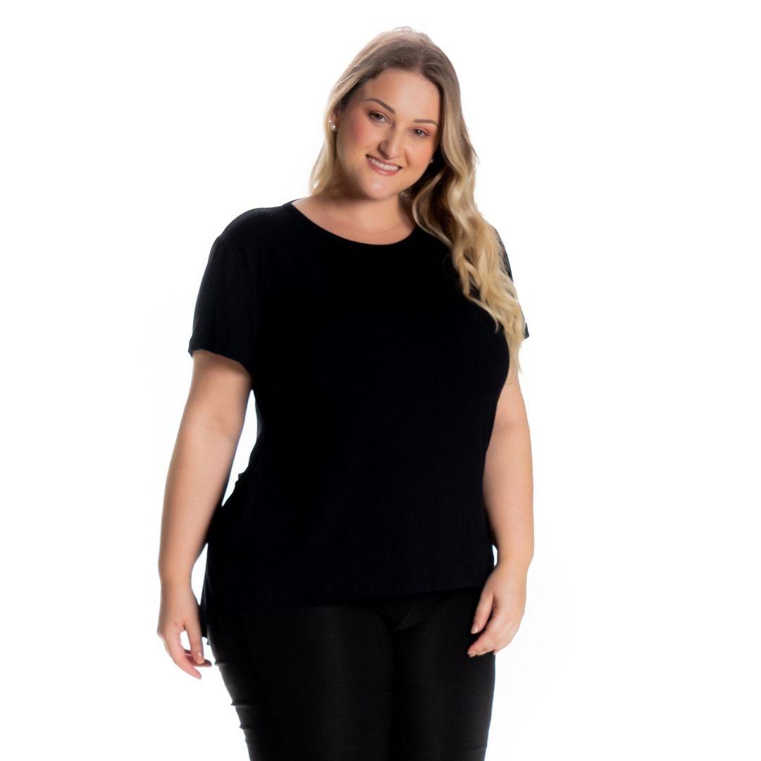 Blusa Feminina Plus Size Mullet 1126