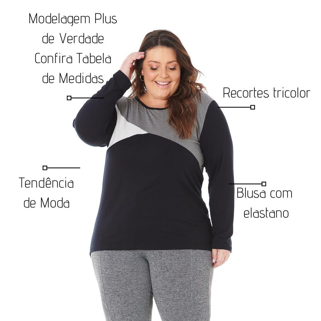 Blusa Feminina Tricolor Plus Size 101553