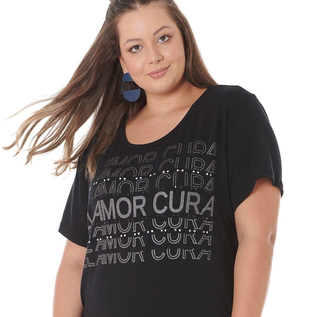 Blusa Plus Size Amor Cura 102521