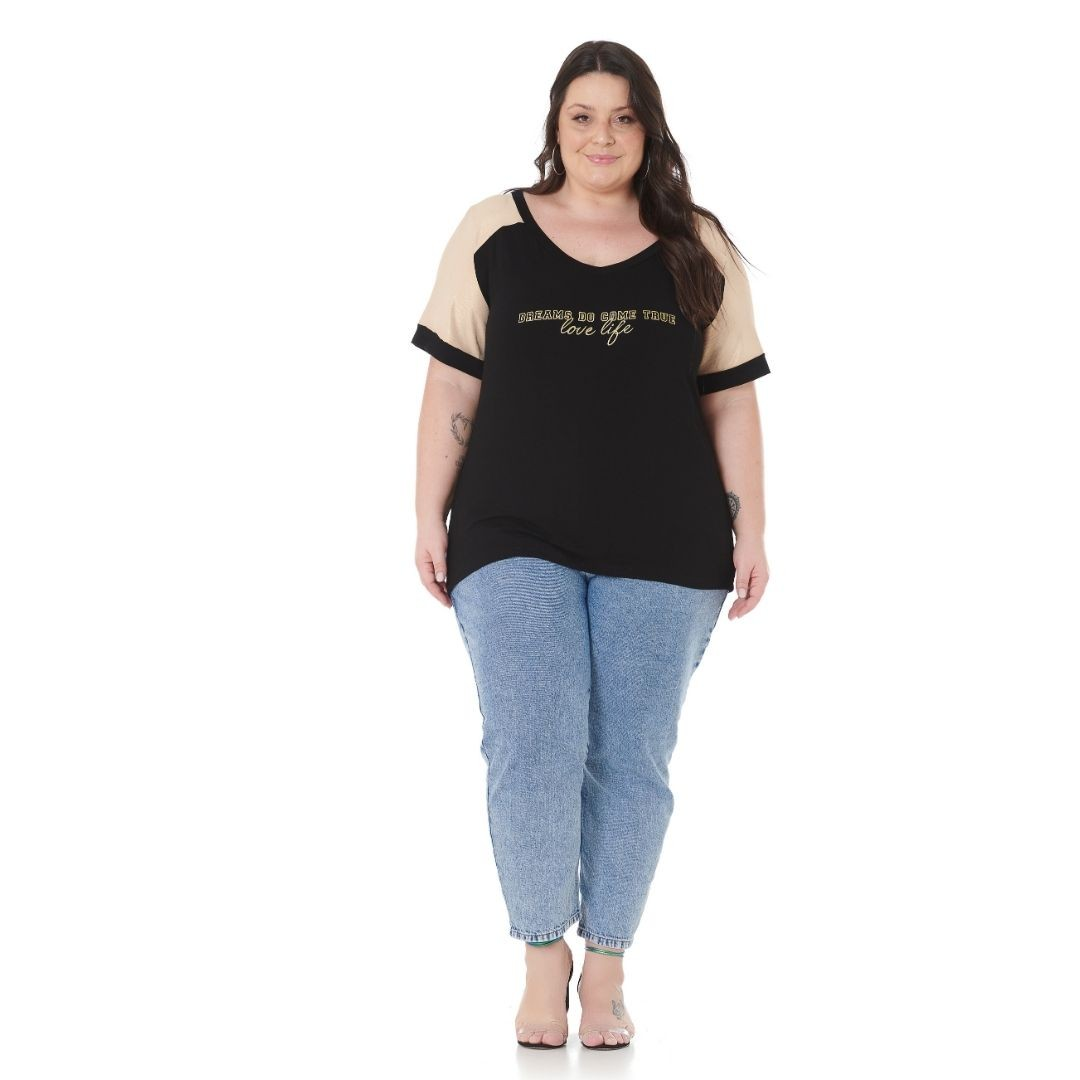 Blusa Plus Size com brilho e Estampa 102556