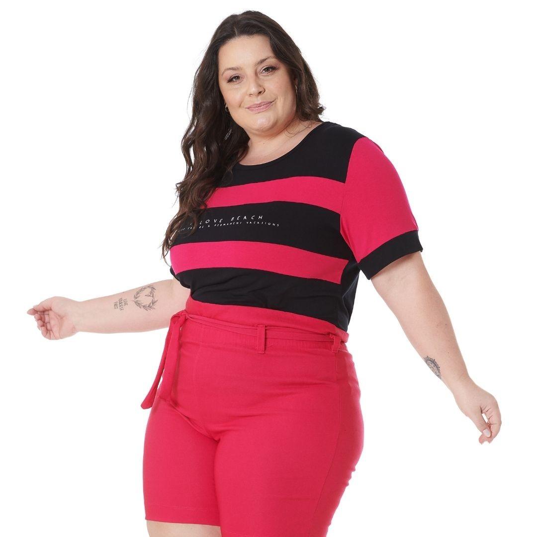Blusa Plus Size com Estampa I love 102566