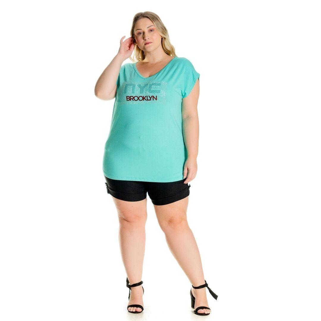 Blusa Plus size com Estampa NYC 102542