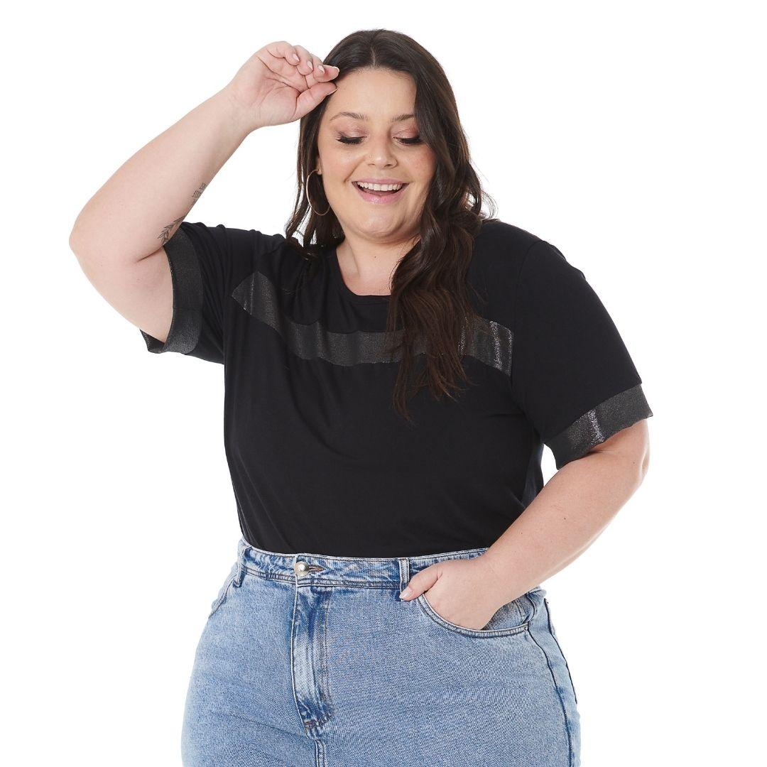 Blusa Plus Size feminino com Brilho 102561