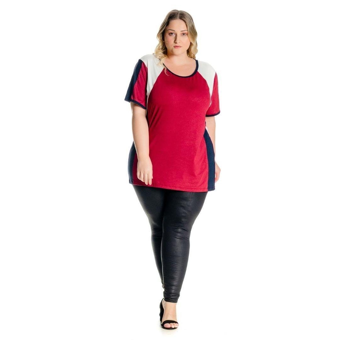 Blusa Tricolor Plus Size 102508