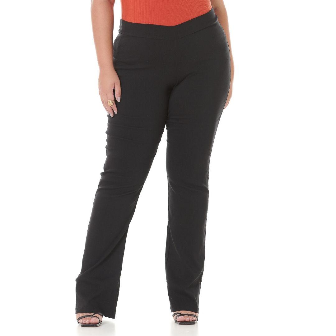 Calça Feminina Flare de Bengaline Plus Size 101517
