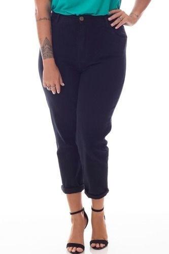 calça jeans Preta plus size 92595