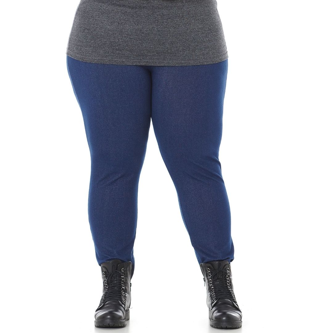 Calça Leggging Feminina Plus Size Cotton Jeans 103624