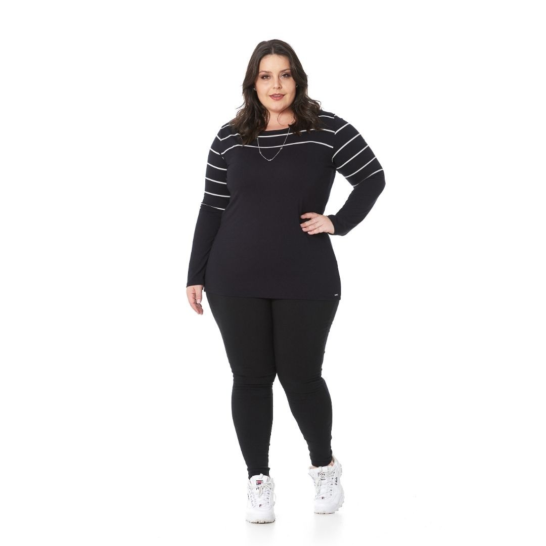 Calça legging de Bengaline Plus Size 91513